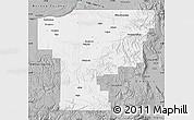 Gray Map of Umatilla County