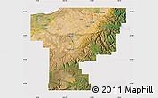 Satellite Map of Umatilla County, cropped outside