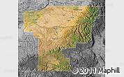Satellite Map of Umatilla County, desaturated