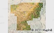 Satellite Map of Umatilla County, lighten