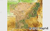 Satellite Map of Umatilla County, physical outside