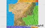 Satellite Map of Umatilla County, political outside