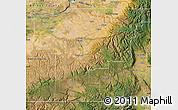 Satellite Map of Umatilla County