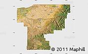 Satellite Map of Umatilla County, single color outside