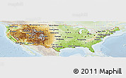 Physical Panoramic Map of United States, lighten