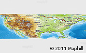 Physical Panoramic Map of United States