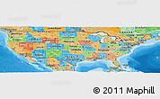 Political Panoramic Map of United States