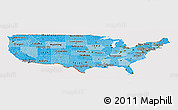 Political Shades Panoramic Map of United States, cropped outside