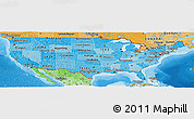 Political Shades Panoramic Map of United States
