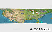 Satellite Panoramic Map of United States