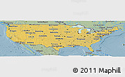 Savanna Style Panoramic Map of United States