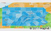Political Shades 3D Map of Pennsylvania