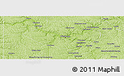 Physical Panoramic Map of Allegheny County