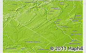 Physical 3D Map of Bucks County