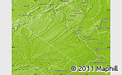 Physical Map of Bucks County