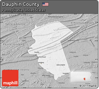 Free Gray Map Of Dauphin County - Dauphin county on us map