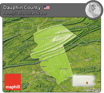 satellite outside physical map of dauphin county satellite outside