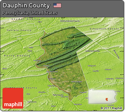 Free Satellite Map Of Dauphin County Physical Outside - Dauphin county on us map