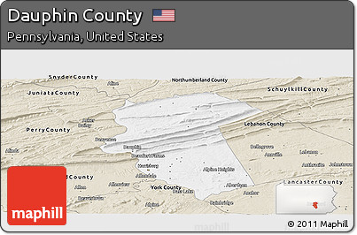 Free Classic Style Panoramic Map Of Dauphin County - Dauphin county on us map