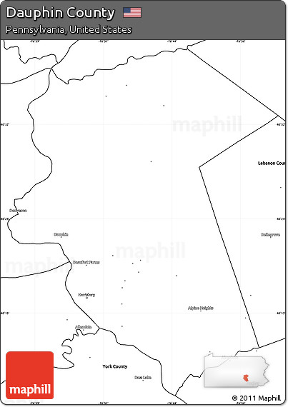 Free Blank Simple Map Of Dauphin County - Dauphin county on us map