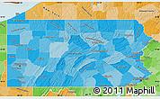 Political Shades Map of Pennsylvania