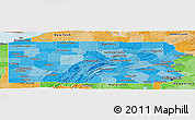 Political Shades Panoramic Map of Pennsylvania