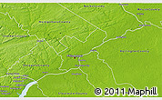 Physical 3D Map of Philadelphia County