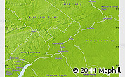 Physical Map of Philadelphia County