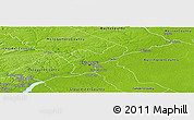 Physical Panoramic Map of Philadelphia County