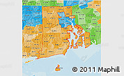 Political Shades 3D Map of ZIP codes starting with 028