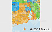 Political Shades Map of ZIP codes starting with 028