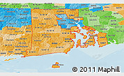 Political Shades Panoramic Map of ZIP codes starting with 028