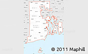 Silver Style Simple Map of ZIP codes starting with 028