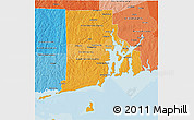 Political Shades 3D Map of Rhode Island