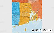 Political Shades Map of Rhode Island