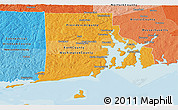 Political Shades Panoramic Map of Rhode Island