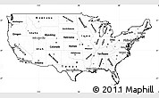 Blank Simple Map of United States, cropped outside