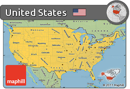 Free Savanna Style Simple Map Of United States - Simplue us map states