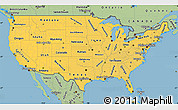 Savanna Style Simple Map of United States