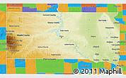 Physical D Map Of South Dakota - Political map of south dakota