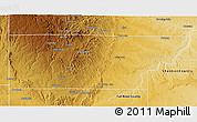 Physical 3D Map of Custer County