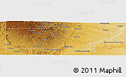 Physical Panoramic Map of Custer County