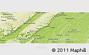 Physical Panoramic Map of Hamilton County