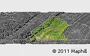 Satellite Panoramic Map of Hamilton County, desaturated