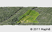 Satellite Panoramic Map of Hamilton County, semi-desaturated
