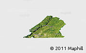 Satellite Panoramic Map of Hamilton County, single color outside