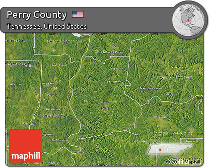 Perry County Tennessee Map.Free Satellite Map Of Perry County