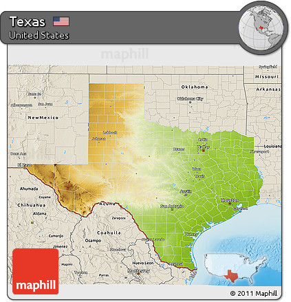 3d Map Of Texas.Free Physical 3d Map Of Texas Shaded Relief Outside