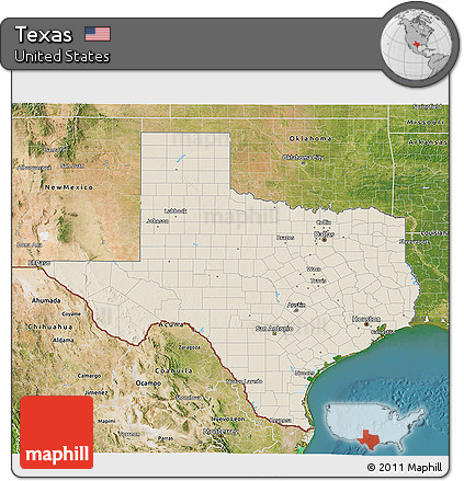 Relief Map Of Texas.Free Shaded Relief 3d Map Of Texas Satellite Outside