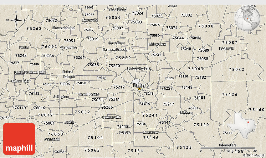 Flower Mound Zip Code Map.Classic Style 3d Map Of Zip Code 75219
